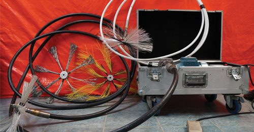 Duct cleaning equipment and tools.