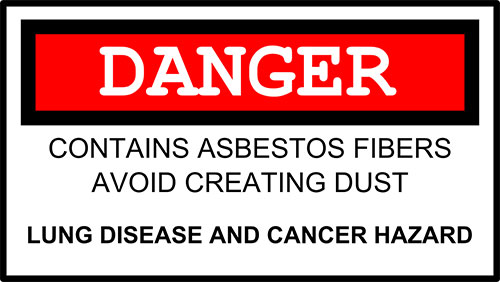 Asbestos warning card.
